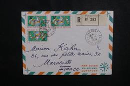 CÔTE D'IVOIRE - Enveloppe En Recommandé De Facobly Pour Marseille En 1974, Affranchissement Plaisant - L 50090 - Côte D'Ivoire (1960-...)