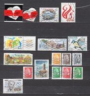 FRANCE LOT DE 17 TIMBRES OBLITERES DE 2018 - Used Stamps