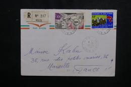 CÔTE D'IVOIRE - Enveloppe En Recommandé De Man Pour Marseille En 1973, Affranchissement Plaisant - L 50095 - Côte D'Ivoire (1960-...)