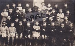 CARTE PHOTO,44,LOIRE ATLANTIQUE,GUENROUET,ECOLE,CLASSE DE GARCONS,1916,RARE - Guenrouet