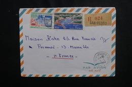 CÔTE D'IVOIRE - Enveloppe En Recommandé De San Pedro Pour Marseille En 1973, Affranchissement Plaisant - L 50098 - Côte D'Ivoire (1960-...)