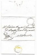 REPUBBLICA ROMANA - DA MONTESANTO PER CITTA' - 24.5.1849. - ...-1850 Voorfilatelie