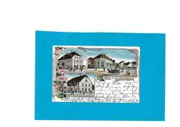 BELLE LITHO GRUSS AUS BANZENHEIM- Bantzenheim - France