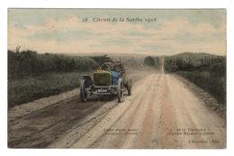 SPORT AUTOMOBILE - Circuit De La Sarthe 1906, Aquarellée - Motorsport