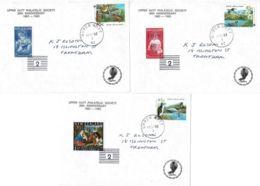 New Zealand 1993 Birds, Health On 3 Upper Hutt Philatelic Society Anniversary Letters - New Zealand