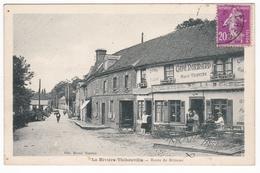La Rivière Thibouville , Route De Brionne , Café Marcel  Travers - Autres Communes