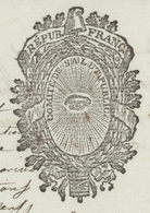 """Héraldique Paris An 2 - 20.7.1794 Le Comité De Salut Public ..Section De La Guerre """"Déserteurs"""" - Historical Documents"""