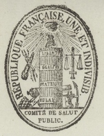 """Héraldique Paris An 3 - 19.7.1795 Le Comité De Salut """"Transport De Vivres"""" - Documents Historiques"""