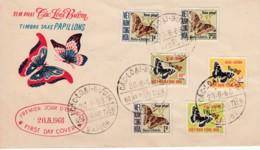 Vietnam Cac Loai Buom Saigon 20 / 08 / 1968 Taxes Série  ..15 / 20  Papillons - Vietnam