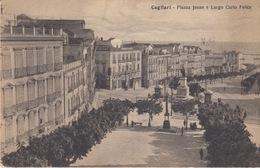 CARTOLINA - CAGLIARI - PIAZZA  JENNE E LARGO CARLO FELICE - VIAGGIATA 1930 - Cagliari