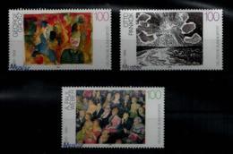 BUND 1993 Nr 1656-1658 ** Mit MUSTER Handstempel (93387) - BRD