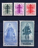 COB 787-791 Xx Croix De Lorraine Petit Format Portraits Du Sénat III - Belgique