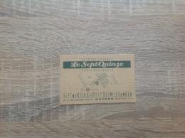 Carte De Visite De Restaurant  Le Sept Quinze  Paris 15eme - Cartoncini Da Visita