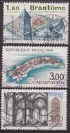Sites Touristiques - FRANCE - Brantome, Périgord - Concarneau, Ville Close - Abbaye De Noirlac - N° 2253 à 225 - 1983 - Used Stamps