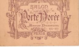 """Paris, Avenue Daumesnil -  Menu Au """"Salon De La Porte Dorée"""" - Menus"""