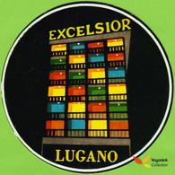 Voyo HOTEL EXCELSIOR Lugano Switzerland Hotel Label 1970s Vintage - Etiquettes D'hotels