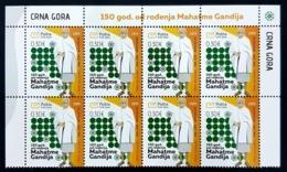 2019, The 150th Anniversary Of Birth Of Mohandas Gandhi, Montenegro, MNH - Montenegro