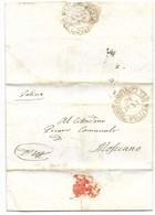 REPUBBLICA ROMANA - DA JESI PER MOSCIANO - 30.4.1849. - ...-1850 Voorfilatelie