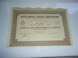 CHOCOLAT GUERIN BOUTRON (1934) - Non Classés