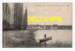 DD / 18 CHER / APREMONT / LE PASSEUR SUR LES BORDS DE L' ALLIER / ANIMÉE / 1917 - Autres Communes