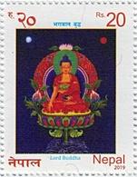 LORD BUDDHA Rs.20 STAMP NEPAL 2019 MINT MNH - Buddhism