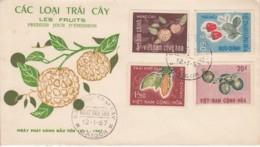 Vietnam Fruits Exotiques Saigon 12 / 1 / 1967 YT 304 / 307 .. Fruit Fleur - Vietnam