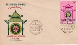 Vietnam De Ngu Chu-Nien Cinquentenaire Lions  International Anniversaire Saigon 5 / 12 / 1967 YT 329 - Vietnam