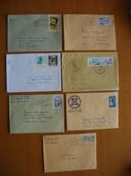Réunion : Sept Lettres Avec Oblitérations De St-Denis  Et Affranchissement Philatélique (1975 à 2000). - Reunion Island (1852-1975)