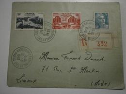 Lettre Recommandée 1948, Assemblée Générale Des Nations Unies - Postmark Collection (Covers)