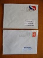Réunion : Deux Lettres De La Ravine Des Cabris  (1996 Et 1998) Dont L'une Avec Double Frappe De La Machine - Reunion Island (1852-1975)