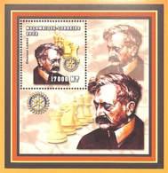 [36803]TB//**/Mnh-Mozambique 2002 - Célébrité, Echecs, Jeux, Rotary - Emanuel Lasker. - Mozambique