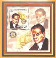[36809]TB//**/Mnh-Mozambique 2002 - Célébrité, Echecs, Jeux, Rotary - Raul Capablanca. - Mozambique