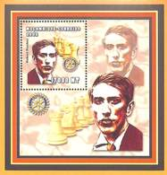 [36815]TB//**/Mnh-Mozambique 2002 - Célébrité, Echecs, Jeux, Rotary - Robert Fischer. - Mozambico