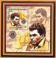 [36827]TB//**/Mnh-Mozambique 2002 - Célébrité, Echecs, Jeux, Lions International - Boris Spassky. - Mozambique