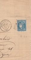 SUR FRAGMENT, GC 2535 MOREZ DU JURA. BORDEAUX 20c - 1849-1876: Classic Period
