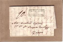 """ITALIE - LETTRE MARQUE """" CASTELNOVO DI GARFAGNANA """" POUR REGGIO , TAXE - 1834 - Italie"""