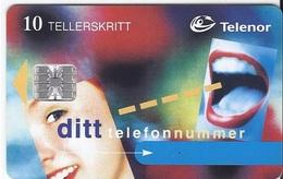 NORWAY - DITT TELEFONNUMMER - P21- 10.000EX - Noruega