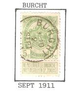 REF224/ TP 83 Armoiries Coba T2 L C.Burcht 9-10/2/SEPT/1911 - 1893-1907 Armoiries