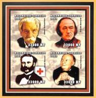 [37399]SUP//**/Mnh-Mozambique 2002 - ND/Imperf, Albert Schweltzer, Claude Bernard, Henri Dunant, Raoul Follerau - Mosambik