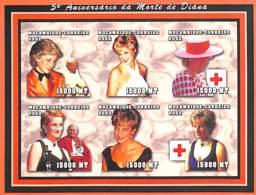 [37753]SUP//ND/Imperf-Mozambique 2002 - ND/Imperf - Célébrité, Princesse, Croix-Rouge - Lady Diana - Mosambik