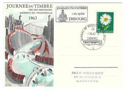 1963, Journée Du Timbre,  Obl. Bureau De Poste Automobile 1.XII.63 - Pro Juventute