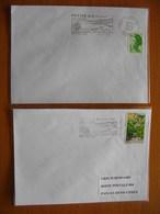 Réunion : Deux  Lettres Avec Oblitérations Mécaniques De La Petite Ile (1983) Dont  Flamme Avec Date Et Sans Date. - Reunion Island (1852-1975)
