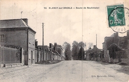 C P A 76] Seine Maritime > Blangy-sur-Bresle Route De Neufchatel  Carte Circulée Pays De Bray - Blangy-sur-Bresle