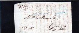 CG1 -  Carate - Doppio Cerchio Sardo Italiano + Bollo Giudicatura Mandam. - Lett. Per Canonica Al L. 7/2/1864 - Italia