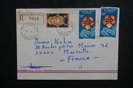 CAMEROUN - Enveloppe En Recommandé De Nkongsamba Pour Marseille En 1974, Affranchissement Plaisant - L 50150 - Kamerun (1960-...)