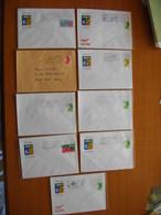 Réunion : Neuf  Lettres Avec Oblitérations Mécaniques Différentes De St-Denis Messageries    (1982 à 1988). - Reunion Island (1852-1975)