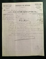 60217 - Facture Fonderie De Métaux Jules Jaccard Sainte-Croix 09.01.1877 - Suisse