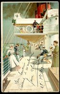 Cpa Le Paquebot La Provence Pont Promenade -- Illustration Lessieux   DEC19-38 - Piroscafi