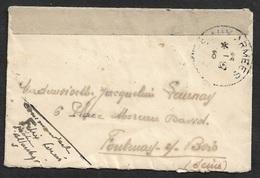 1945 - LETTRE MILITAIRE - CENSURE SECTEUR DE LA LOIRE INFÉRIEURE  - Cad POSTE AUX ARMEES - Postmark Collection (Covers)