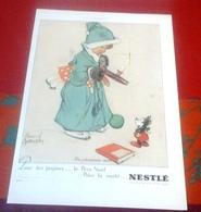 """Publicité Lait Concentré Et Farine Lactée Nestlè Années 30 Dessin Noël Mickey """"Un Précieux Avis"""" Ill. Marcel Danson - Pubblicitari"""